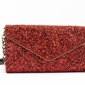 Rebecca Minkoff Glitter Cleo Wallet on a Chain